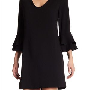 Charles Henry Dress Size XS, black tiered sleeve